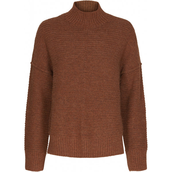 ONLY ONLY Elena Highneck Pullover Knit Ginger Bread