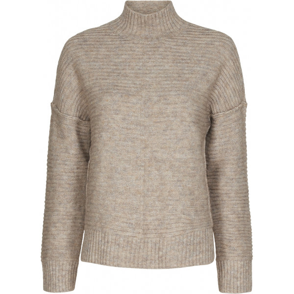 ONLY ONLY Elena Highneck Pullover Knit Simply Taupe