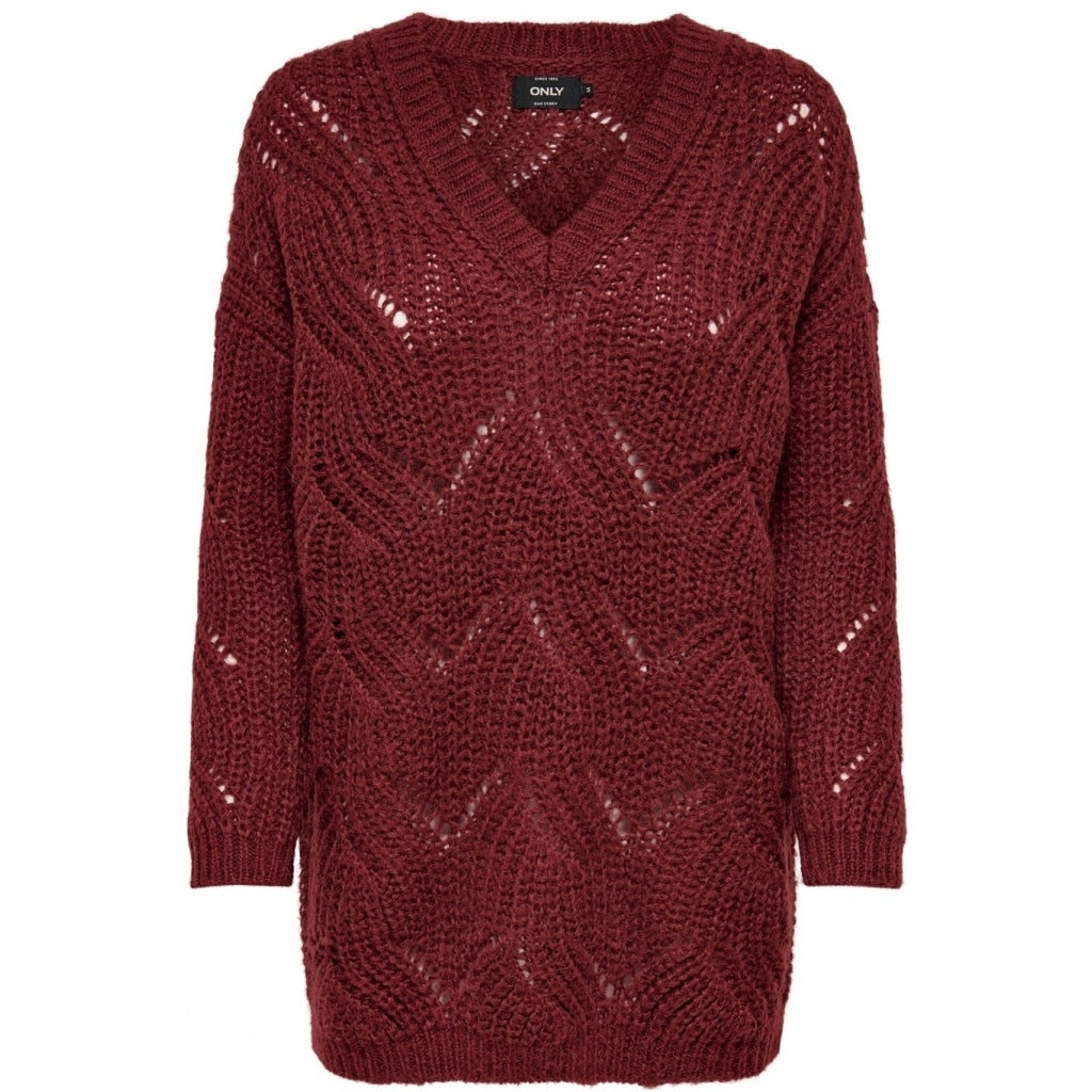 Image of   ONLY Havana Pullover - Merlot - XL