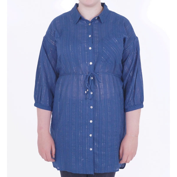 ONLY ONLY Janna Tunic Shirt & Tee Navy