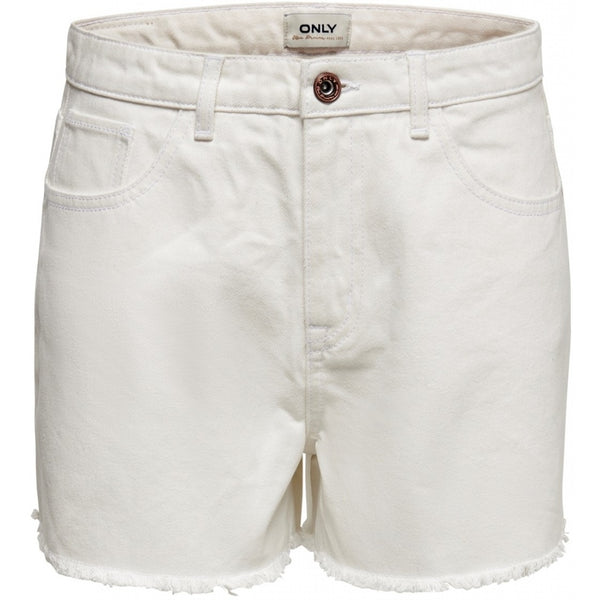 ONLY ONLY Kelly White Denim Shorts Shorts White
