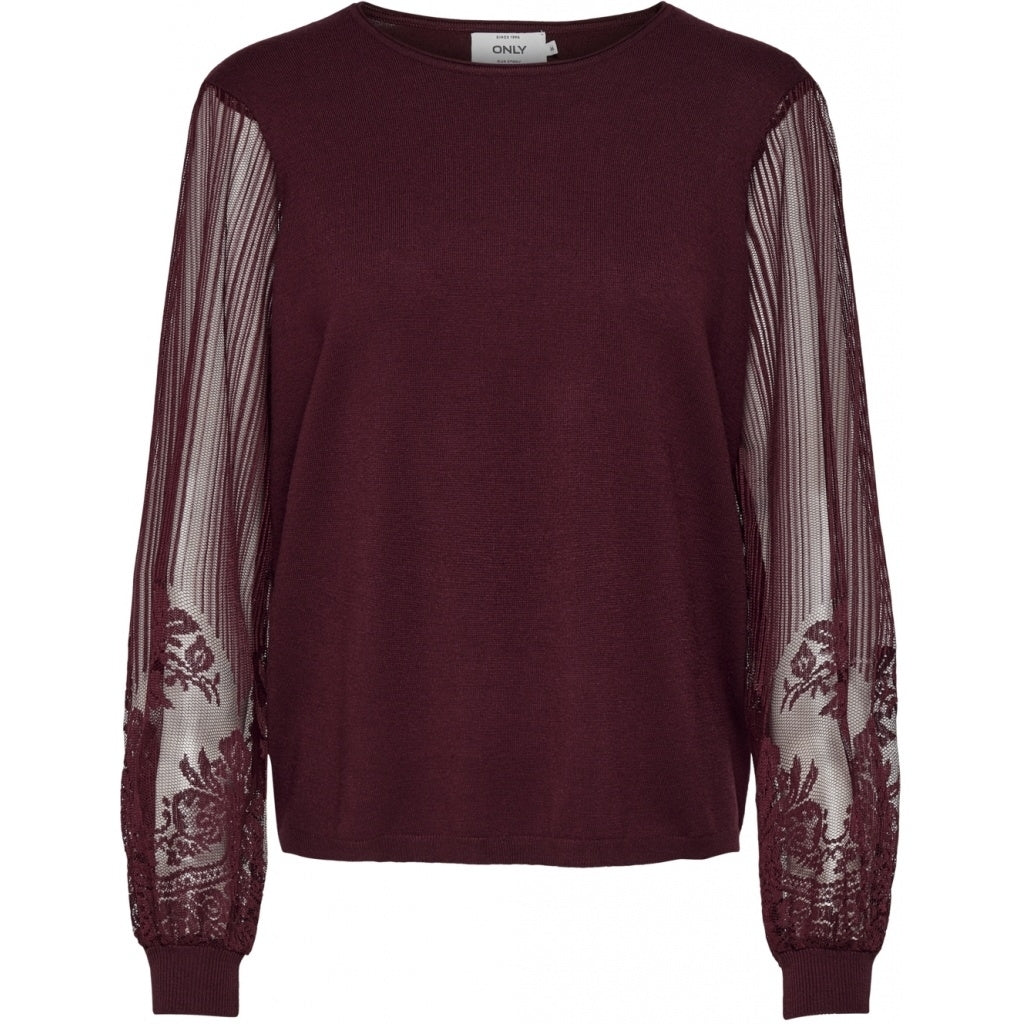 ONLY Lacey Pullover - Tawny Port