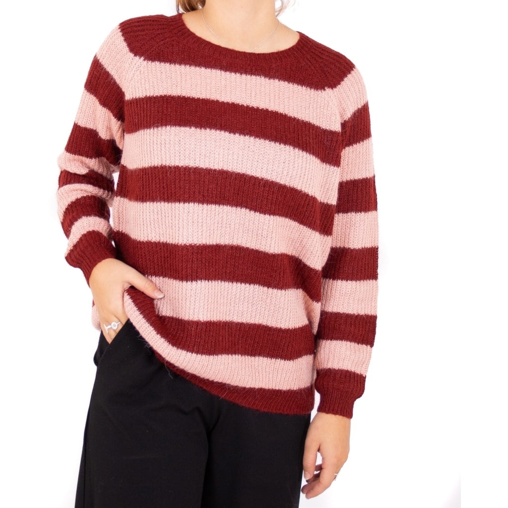 Image of   ONLY Malone Pullover - Merlot - L