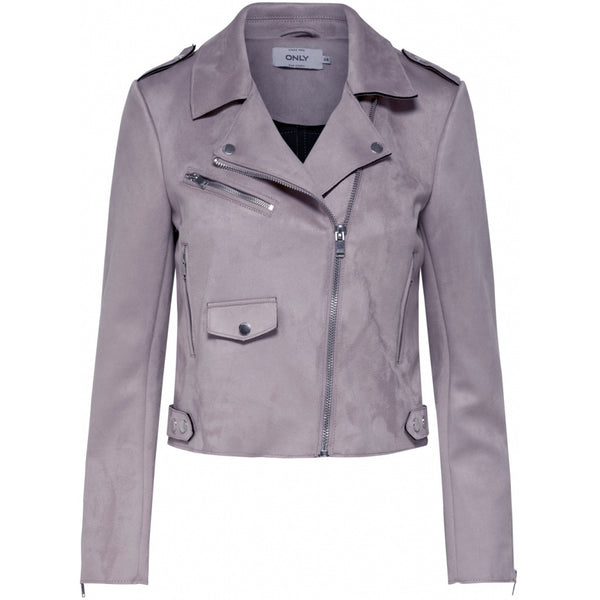 ONLY ONLY Sherry Bonded Biker Jacket Purple
