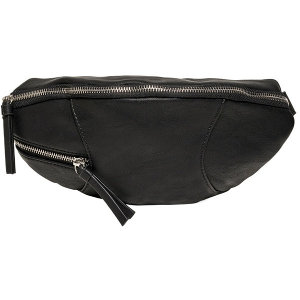 ONLY ONLY Zipper PU Bæltetaske Bag Black