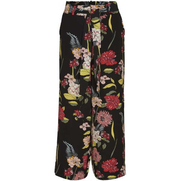 ONLY Only dame bukser ONLELLA Pant Black Flowers