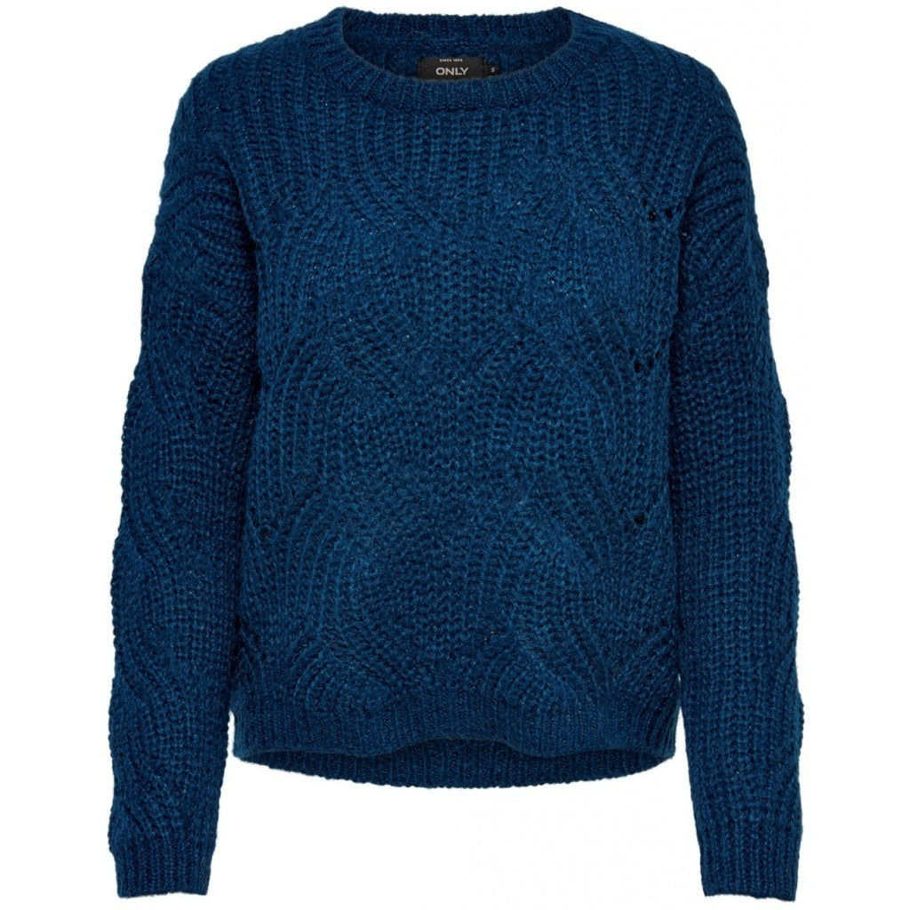 Image of   Only dame strik pullover ONLHAVANA - Blue - M