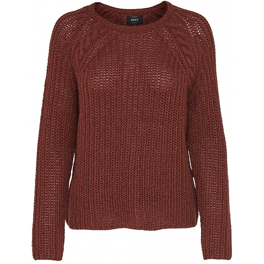 Image of   Only dame strik pullover ONLLANE - Brown - S
