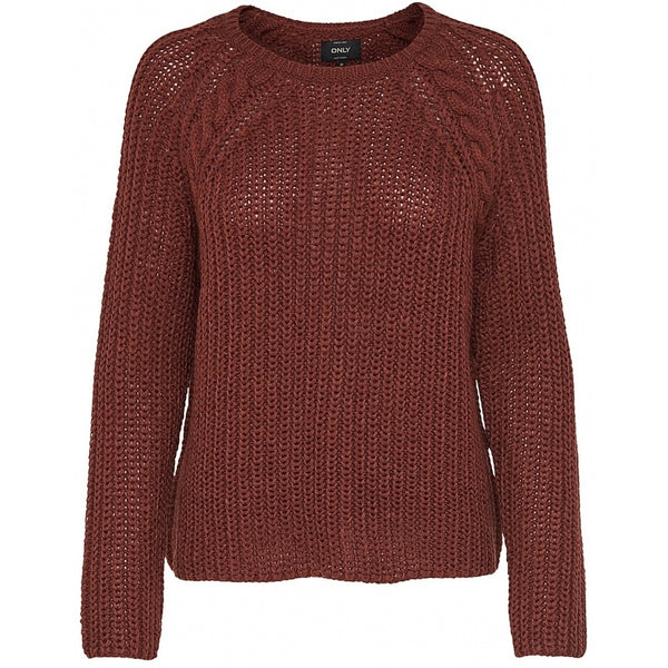 ONLY Only dame strik pullover ONLLANE Knit Brown