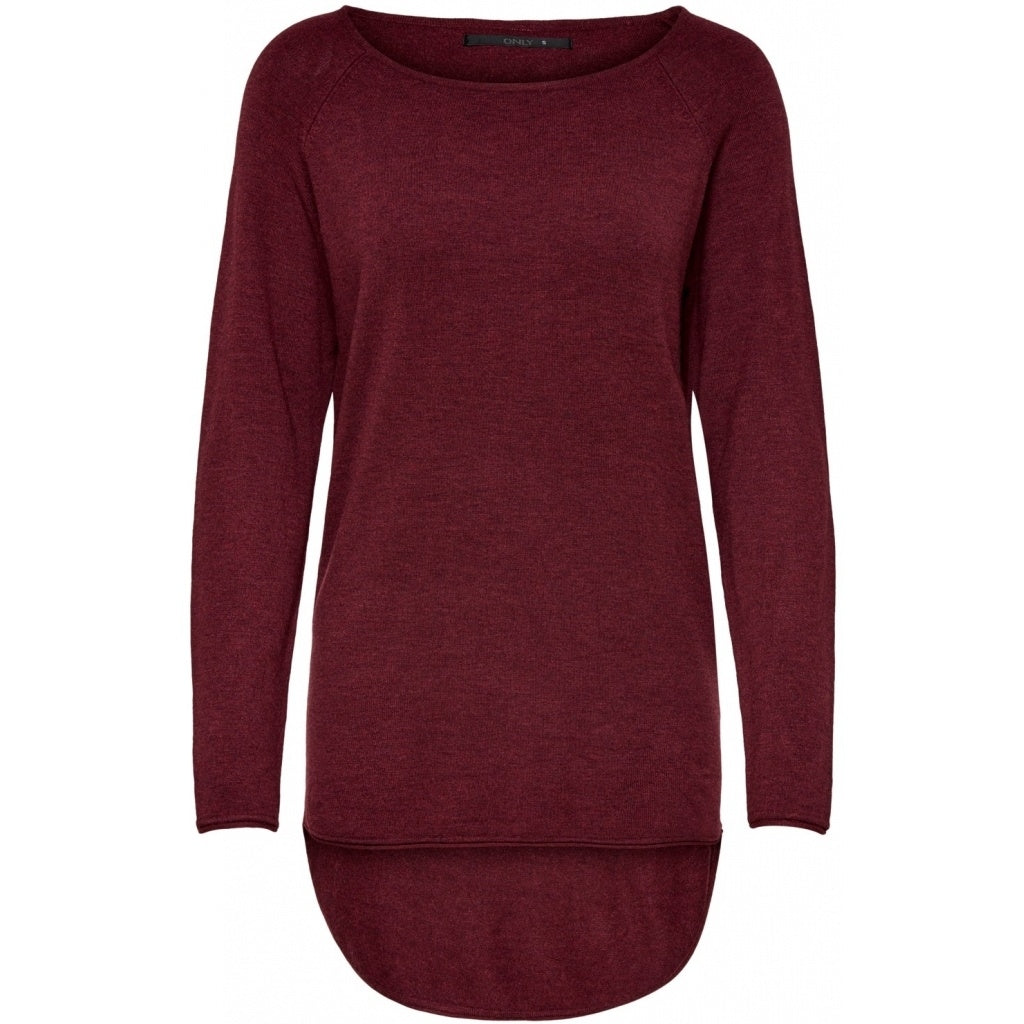 Image of   Only dame strik pullover ONLMILA - Bordeaux - M