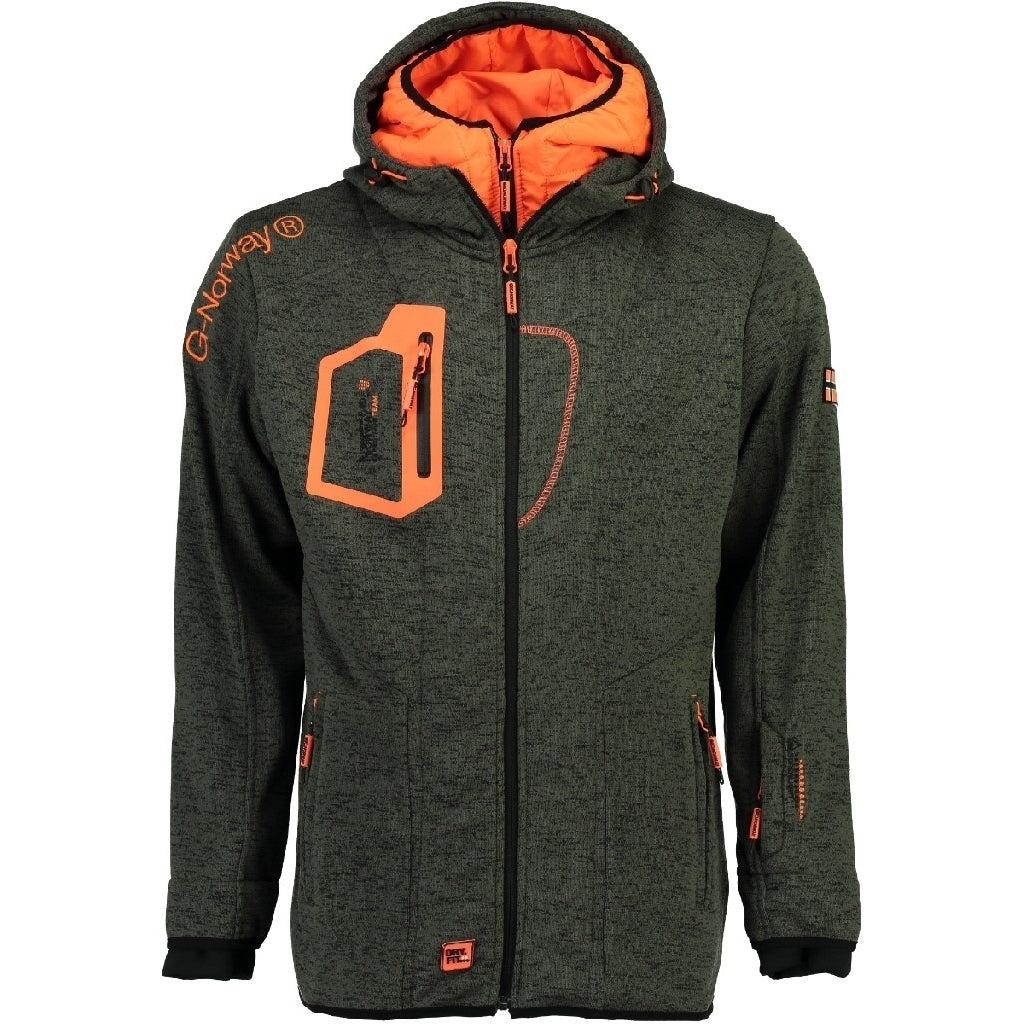 Image of   Fleecetrøje Herre GEOGRAPHICAL NORWAY URSIN - Grey/Orange - L