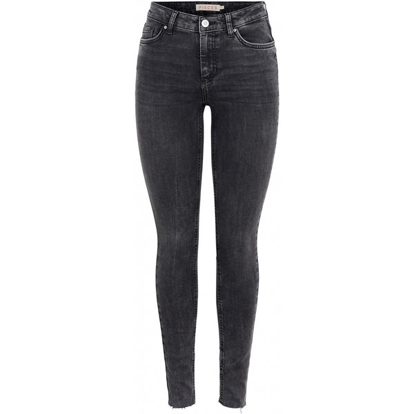 PIECES PIECES dame jeans PCDELLY Jeans Dark Grey