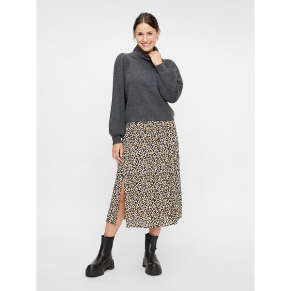 PIECES PIECES dame nederdel PCREBA Skirt Black