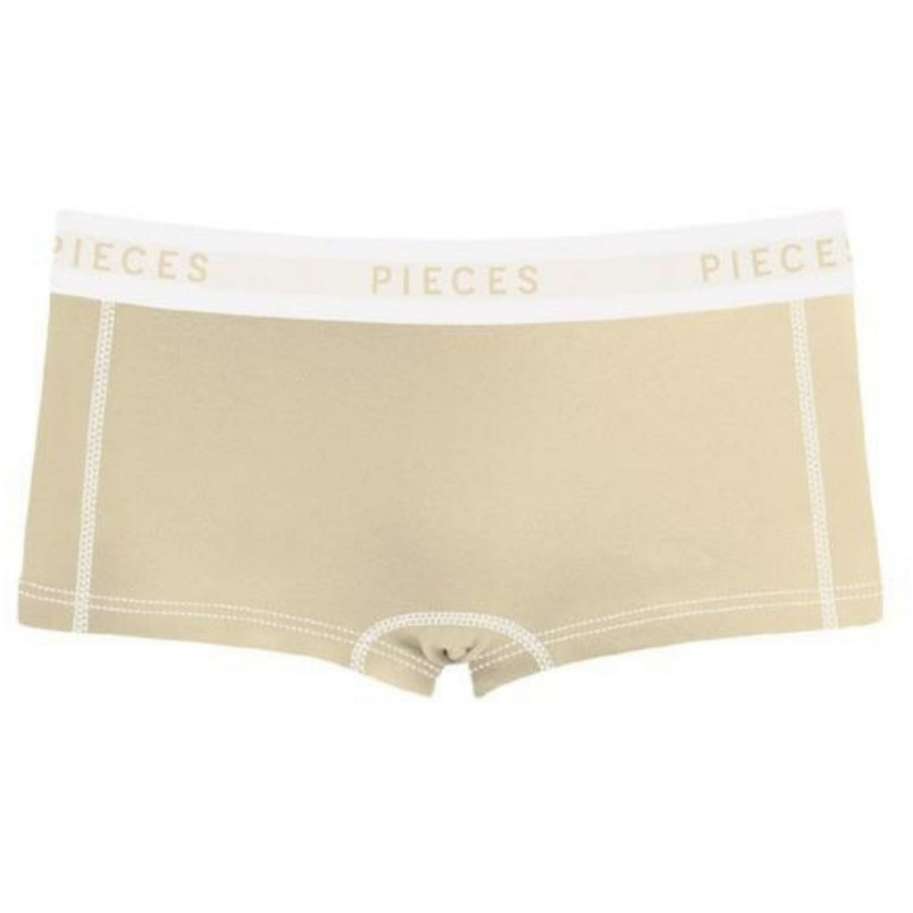 Pieces dame hipsters PCLOGO Lady - Almond Buff