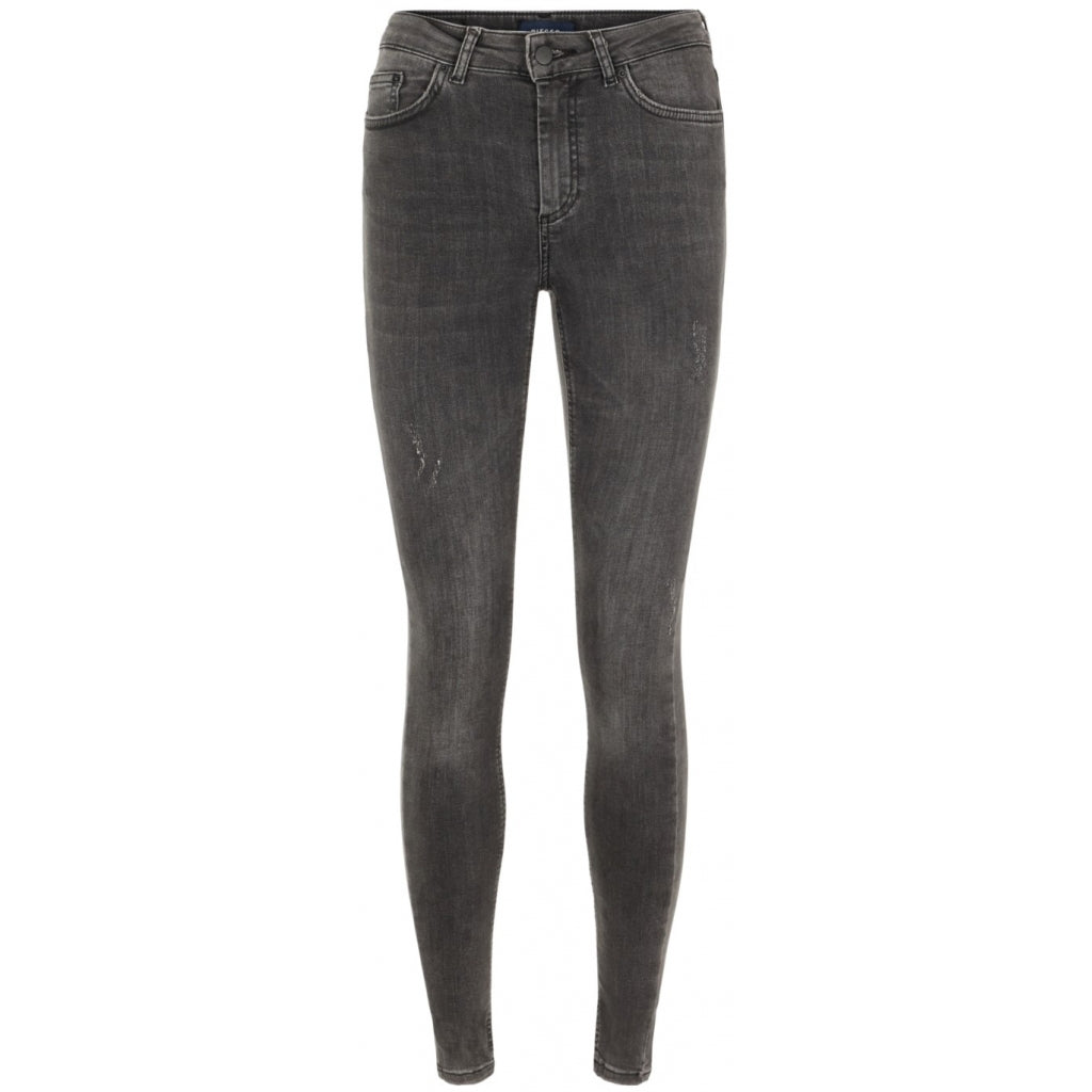 Pieces dame jeans PCDELLY - Dark Grey