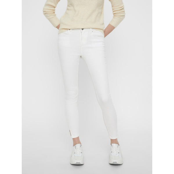 PIECES Pieces dame jeans PCDELLY Jeans Bright white