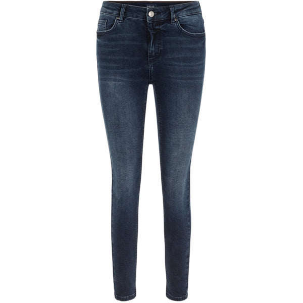 PIECES Pieces dame jeans PCDELLY Jeans Dark Blue