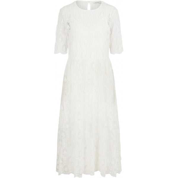 PIECES Pieces dame kjole PCAYUNINE Dress Bright white