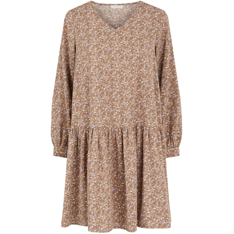 PIECES Pieces dame kjole PCMALIBUA Dress Taupe