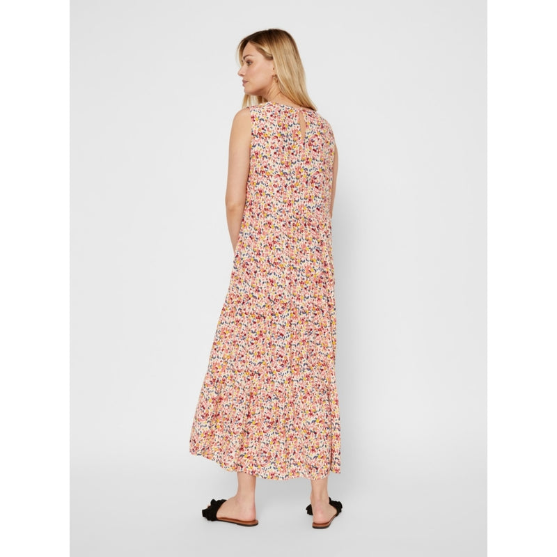 PIECES Pieces dame kjole PCMAYRIN Dress Misty Rose Flower leaves
