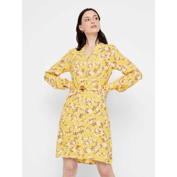PIECES Pieces dame kjole PCMELINDA Dress Ceylon Yellow