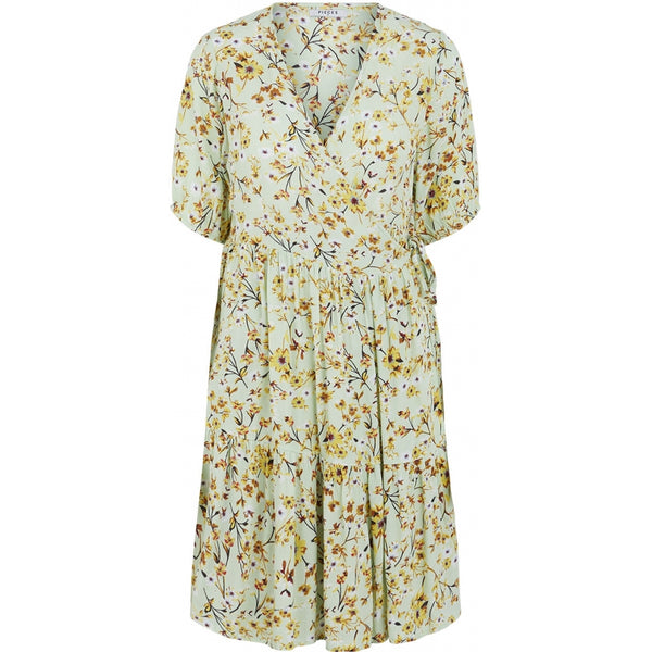 PIECES Pieces dame kjole PCSUNNY Dress pastel green flowers