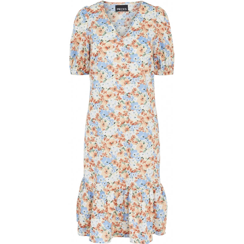 PIECES Pieces dame kjole PCYRSA Dress Peach