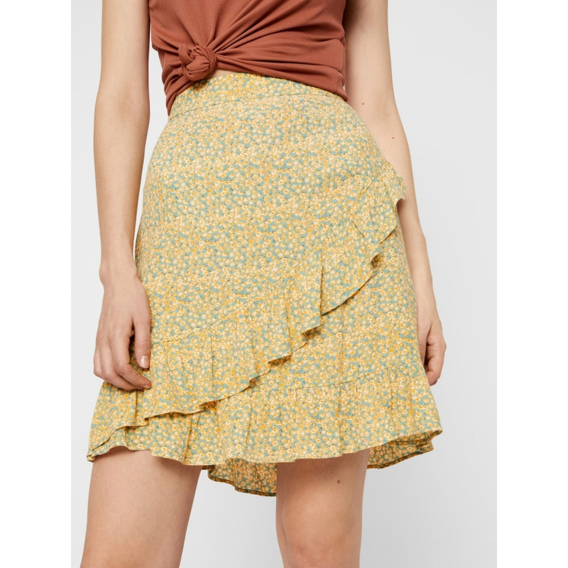 PIECES Pieces dame nederdel PCMONSI Skirt Yellow