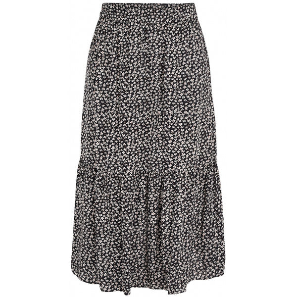 PIECES Pieces dame nederdel PCMUUNA Skirt Black simple flower