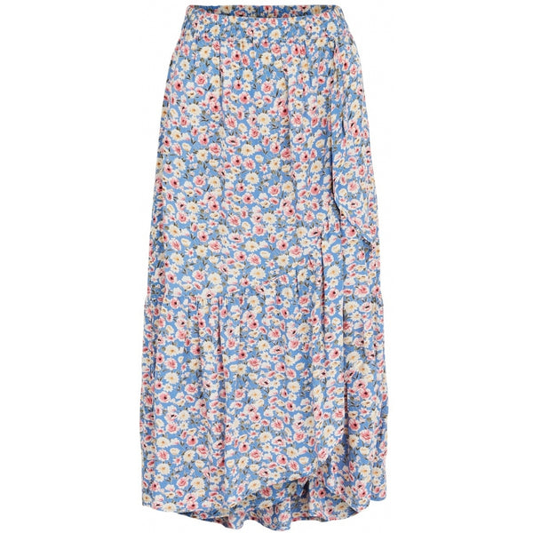 PIECES Pieces dame nederdel PCMUUNA Skirt Litchen blue flower
