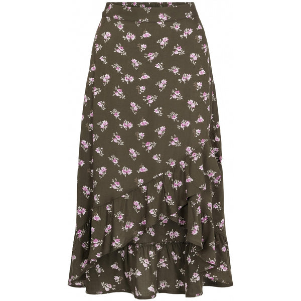 PIECES Pieces dame nederdel PCSILJY Skirt Forest Night