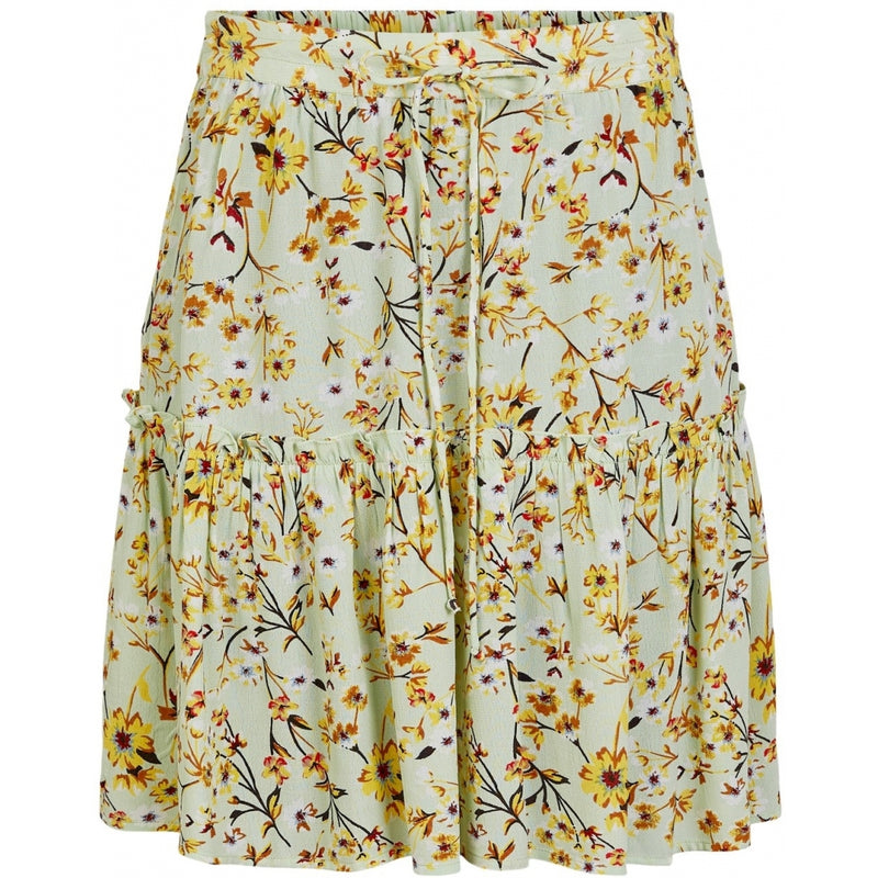 PIECES Pieces dame nederdel PCSunny Skirt pastel green flowers