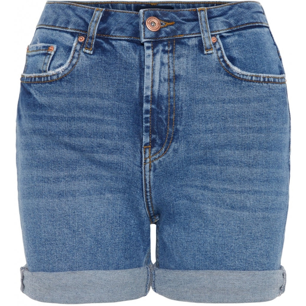 Pieces dame shorts HW PCLEAH - Blue