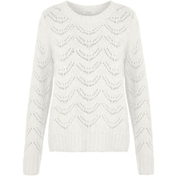 PIECES Pieces dame strik PCBIBI Knit Cloud Dancer