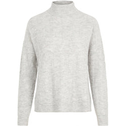 PIECES Pieces dame striktrøje PCBECKY Knit Light grey melange