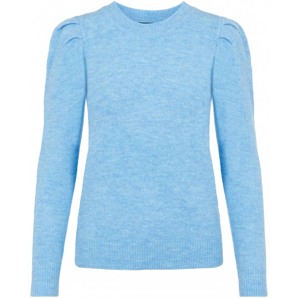 PIECES Pieces dame striktrøje PCSIKKA Knit Little Boy Blue