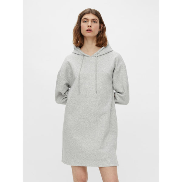 PIECES Pieces dame sweat kjole PCCHILLI Dress Light grey melange