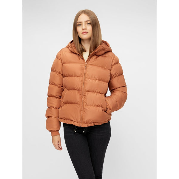 PIECES Pieces dame vinterjakke PCBEE Winter jacket Mocha Bisque