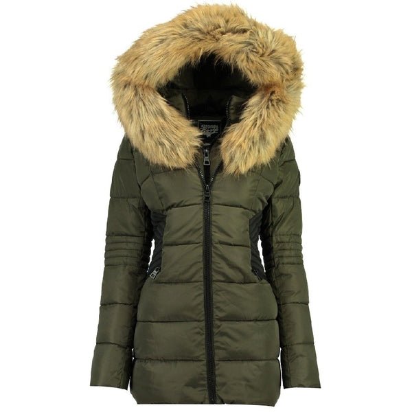 Geographical Norway STONE GOOSE Dame Vinterjakke Bandaz Winter jacket Khaki