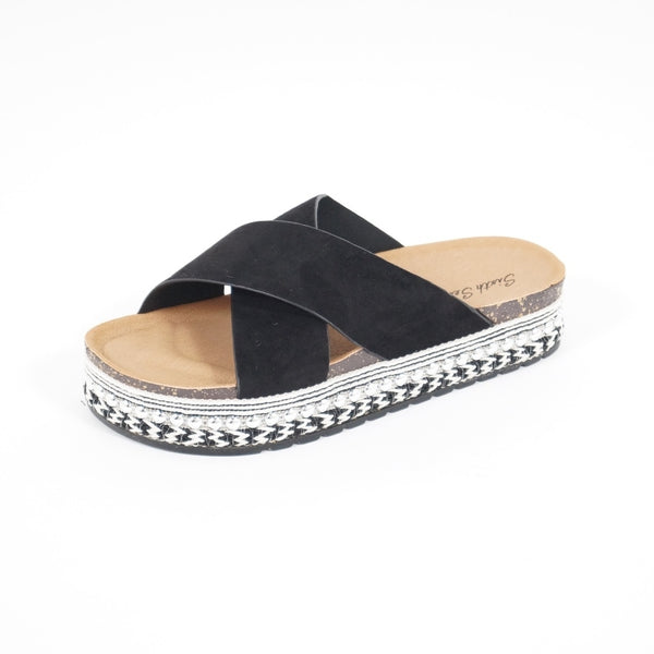 Tex-Time Sandal dame Dahlia Sixth Sens Shoes Shoes Black
