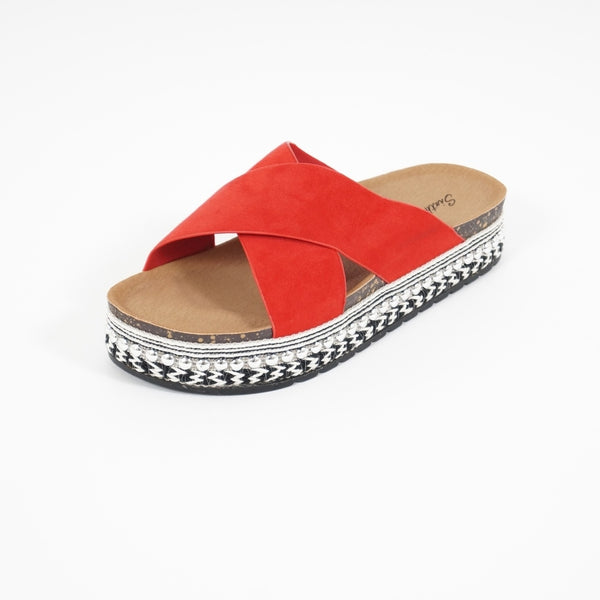 Tex-Time Sandal dame Dahlia Sixth Sens Shoes Shoes Red