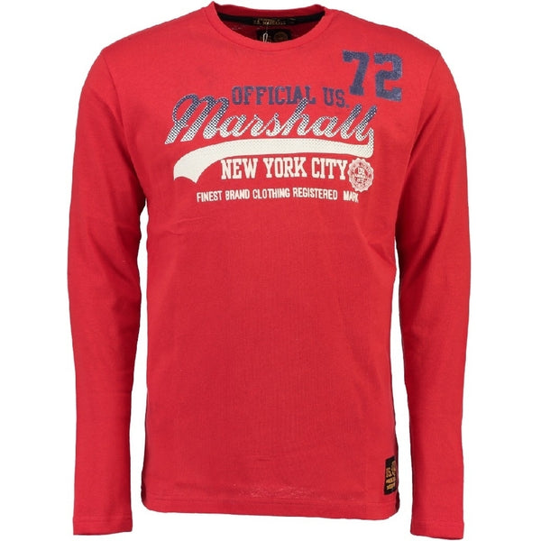 Geographical Norway US Marshall LS Tee Jorshall LS Tee Red