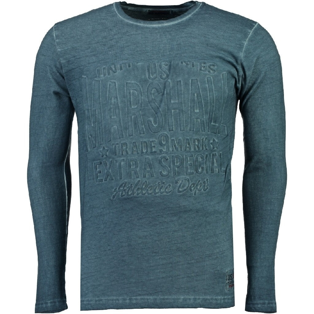 Image of   US Marshall langærmet tee Junishall - Blue - L