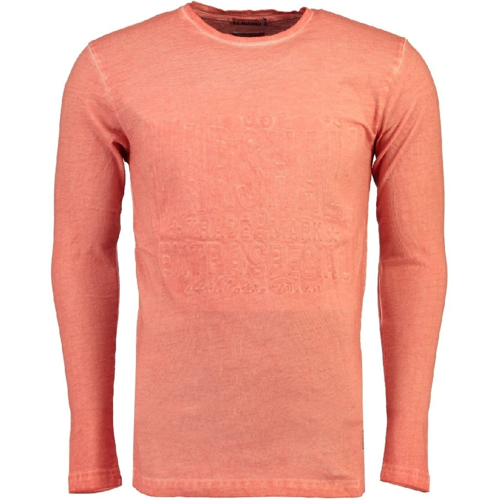 Image of   US Marshall langærmet tee Junishall - Coral - XXL
