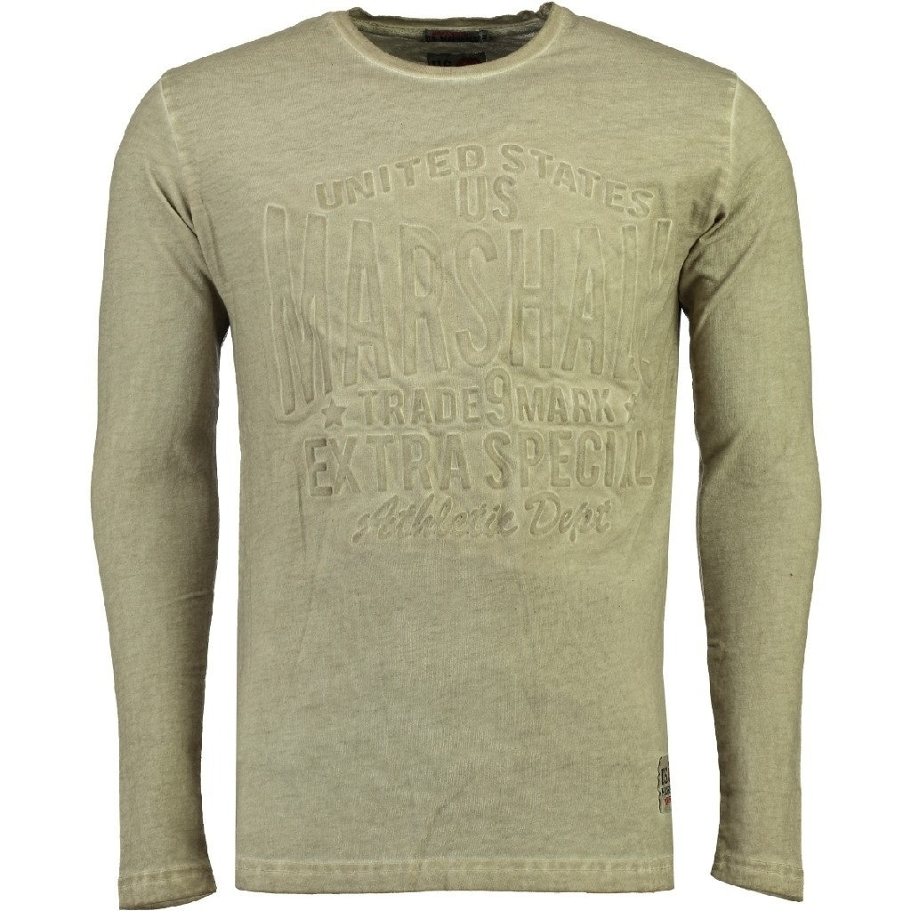 Image of   US Marshall langærmet tee Junishall - Sand - S