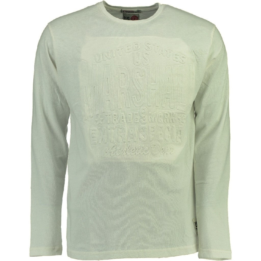 Image of   US Marshall langærmet tee Junishall - White - L