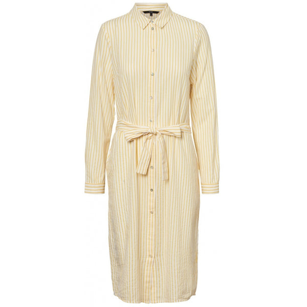 Vero Moda Vero Moda dame kjole VMHELI Dress Banana cream stripe