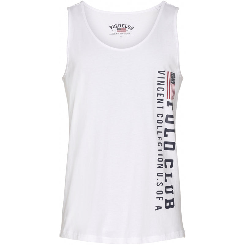 Vincent Polo Club Vincent Polo Club Herre tanktop Palmdale T-shirt White 2