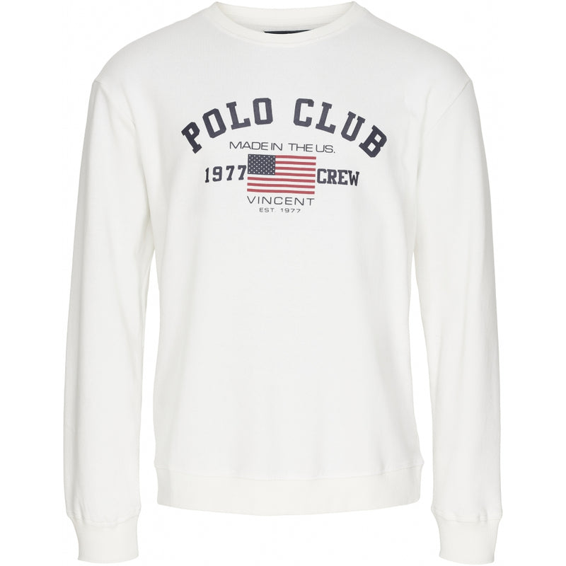 Vincent Polo Club Vincent Polo Club Sweatshirt St-Louis Sweatshirt Off White