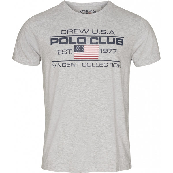 Vincent Polo Club Vincent Polo Club herre t-shirt Fort Collins T-shirt Grey